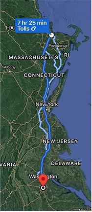 NE roadtrip map